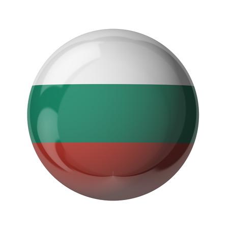 3D-Flagge Bulgarien isoliert auf weiß Standard-Bild - 54727914