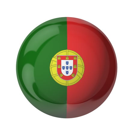 3D flag of Portugal isolated on white