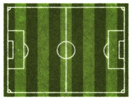 3d Fußball - Fußball-gestreiften Feld. Standard-Bild - 54727946