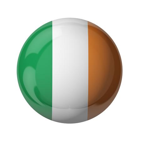 3D-Flagge von Irland isoliert auf weiß Standard-Bild - 54727949
