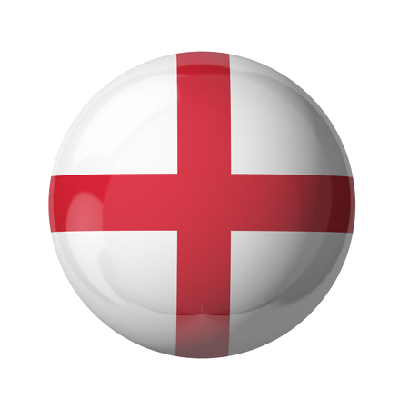 3D flag of England isolated on white