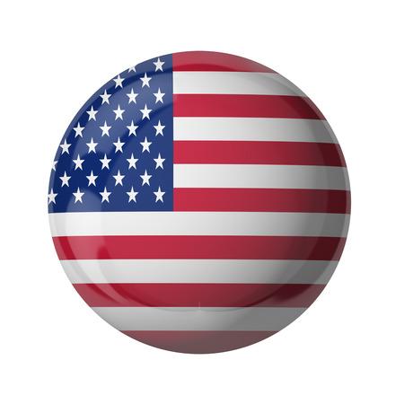 3D-Flagge USA isoliert auf weiß Standard-Bild - 54727952