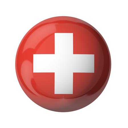 Schweiz Flagge von Großbritannien isoliert auf weiß Standard-Bild - 54727956