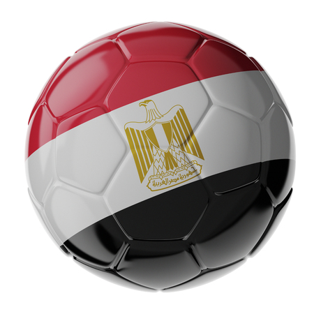 Football/soccer ball with flag of Egypt. 3D render Standard-Bild - 100230839