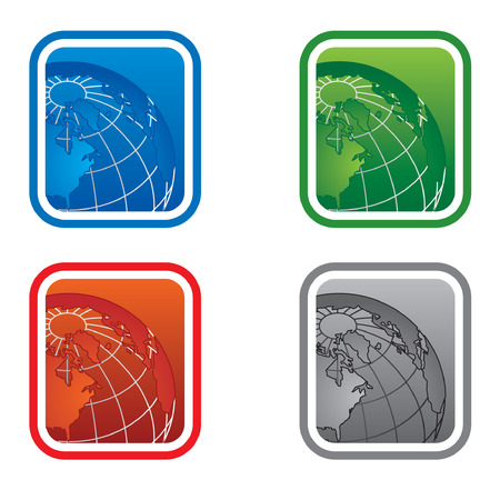 Globe vector logo for web