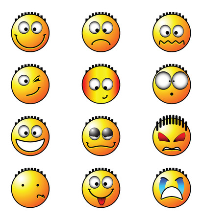 vector format smile for web and design Illustration