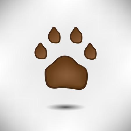 lion dog: Animal paw Illustration