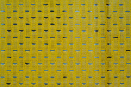 Close up of yellow polyester nylon yellow