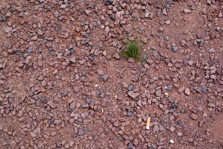 macadam: red crushed gravel Stock Photo