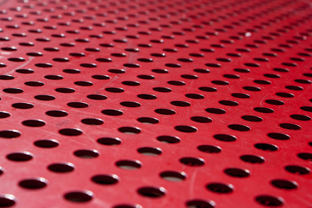 red metal: Red metal grate texture and background Stock Photo