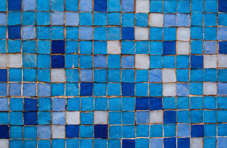 Blue Mosaic Tiles Zexture Background photo