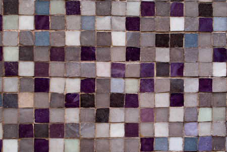 Violet and Grey Mosaic Tiles Zexture Background photo