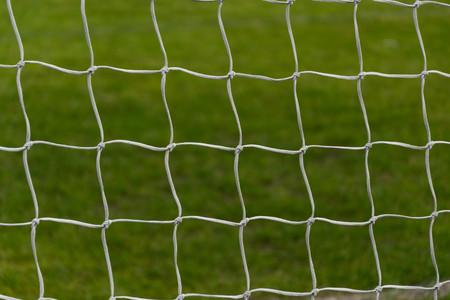 kickball: Goal at the stadium close up