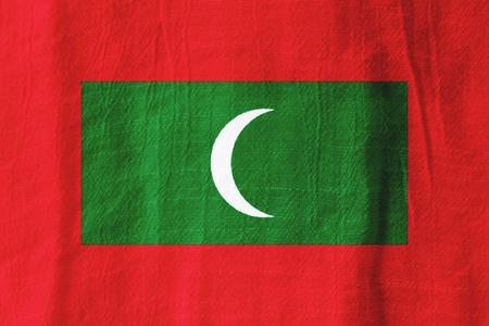モルディブの国旗グラフィック デザインのファブリックから。