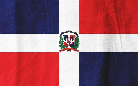 De Dominicaanse Republiek nationale vlag van stof voor grafisch ontwerp.