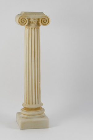 roman pillar: architectural classic column isolated on a white background. Stock Photo