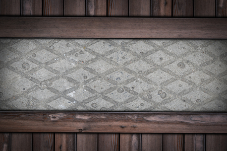 pavement with Rhombus pattern on wooden background. Stok Fotoğraf