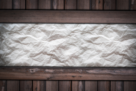 White page of paper texture on wooden background. Stok Fotoğraf