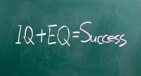 emotional intelligence: formula for success iq eq success concept Stock Photo