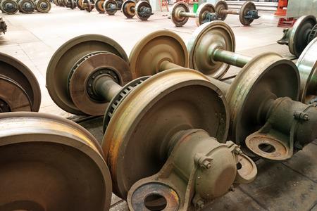 heavy industry: heavy industry factory,production of the steel train wheels
