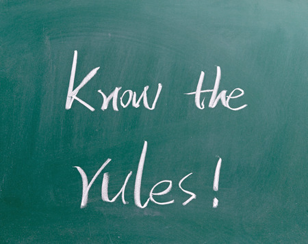 legal advice: Know the rules !
