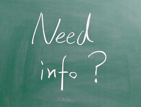 Need info ? photo