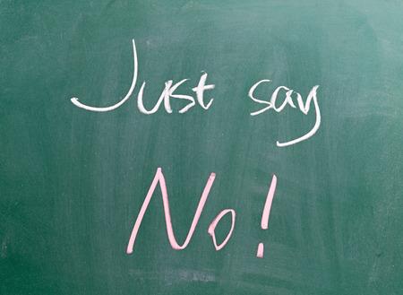 Just say NO !  photo