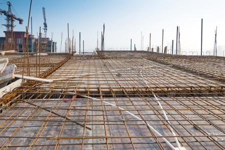hormig�n: Estructura de techo, construcci�n de iones Foto de archivo