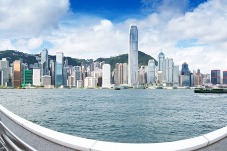 Hong Kong harbor scenery