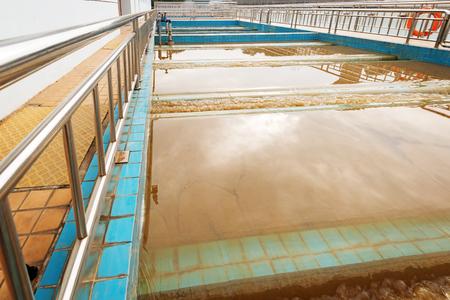 environmental sanitation: Modern urban wastewater treatment plant