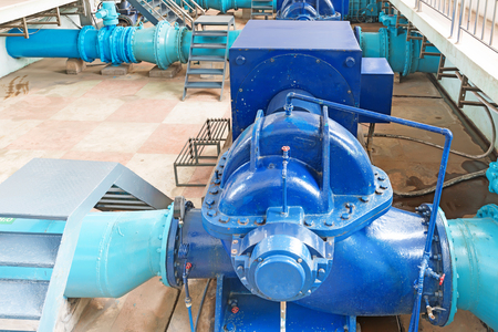 environmental sanitation: Modern urban wastewater treatment plant.