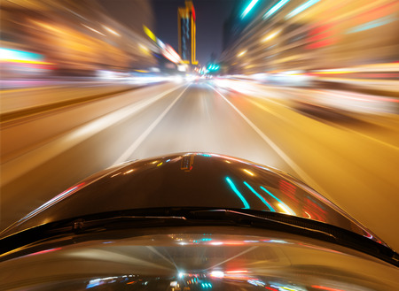 car on the road with motion blur background 版權商用圖片