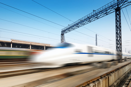 fast moving speed train
