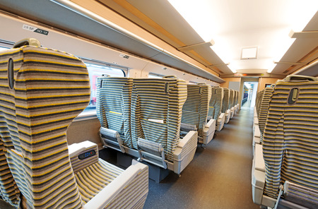 corridors: inside the high speed train compartment