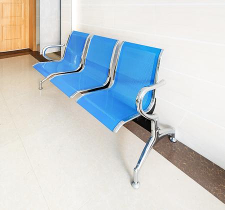 corridors: Chairs in the hospital hallway. hospital interior Stock Photo