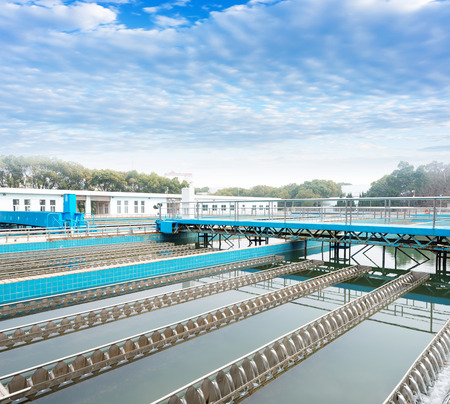 Water cleaning facility outdoors Stockfoto