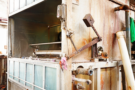 Old rusted machine Stock Photo