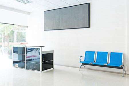 passageway: Empty reception hall in modern building Stock Photo