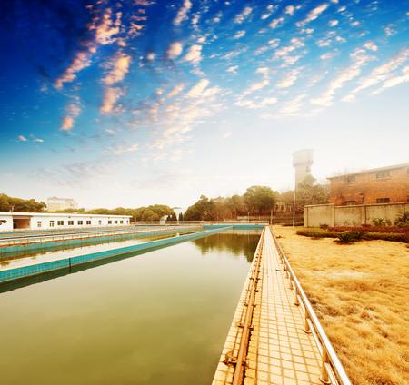 turbidity: Modern urban wastewater treatment plant