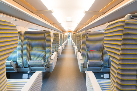 available: inside the high speed train compartment