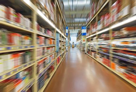 速度の倉庫で買い物