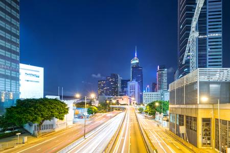 Hong Kong city at night Reklamní fotografie