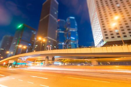 モダンな建物の背景に光の道は中国を上海します。 写真素材