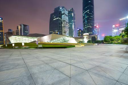 Chinas Financial District, Guangzhou Pearl River Night