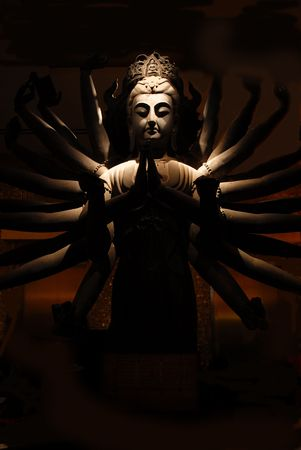 Buddha statue in the night photo