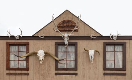 Western Log Home and Skull Gateway photo