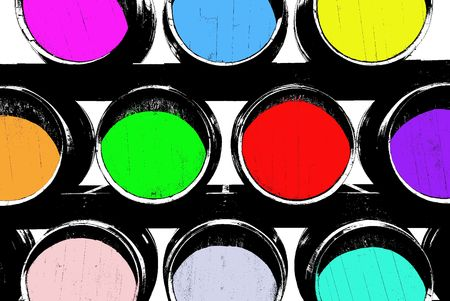 cabarnet: Barrels designed to look like a graphic illustration. United colors of barrels Stock Photo