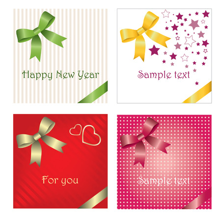 set of gift cards Stock Vector - 6246321