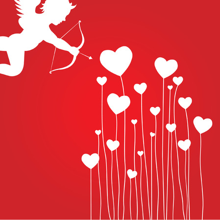love card with cupid Stock Vector - 6256718