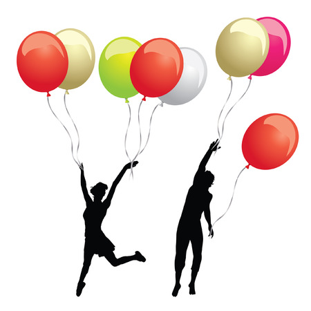 colorful set of ballons vector
